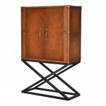 Luxury Leather Drinks Cabinet On Stand