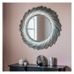 Lowry Round Silver Mirror