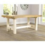 Marino Oak + Cream Dining Table