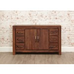 Mayan Walnut 6 Drawer Sideboard