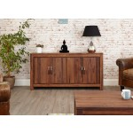 Mayan Walnut Large 4 Door Sideboard