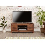 Mayan Walnut Low Widescreen TV Cabinet