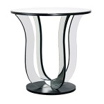 Mirrored Art Deco Round Side Table