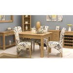 Mobel Oak 4 Seat Dining Table