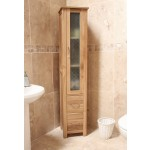 Mobel Oak Tall Bathroom Cupboard
