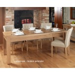 Mobel Hidden Extending Oak Dining Table