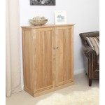 Mobel Oak Shoe Cupboard - Large
