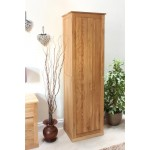 Mobel Oak Shoe Cupboard - Tall
