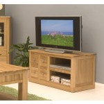 Mobel Oak 4 Drawer Television Cabinet