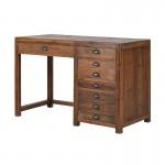 Industrial Pine Pedestal Desk