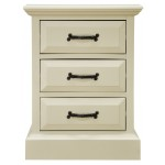 Regency Cream 3 Drawer Bedside
