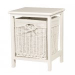 1 Basket White Storage Unit