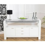 Sophia White High Gloss Sideboard