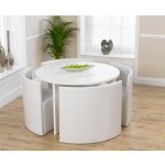 Sophia High Gloss Round Table Set
