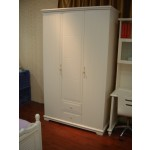 Toulouse White Triple Wardrobe