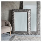 Versaille Rectangle Mirror Silver