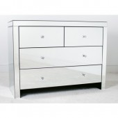 Mirrored 2 over 2 Chest of Drawers