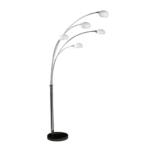5 arm crome floor lamp multi arm floor lamp. Black Bedroom Furniture Sets. Home Design Ideas