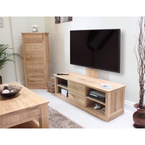 Mobel Oak Flat Screen Tv Stand With Mount