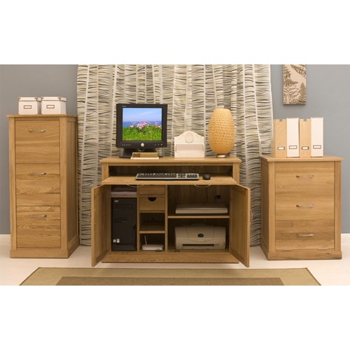 mobel oak hidden home office front