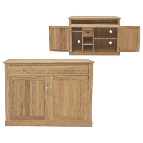 mobel oak hidden home office open