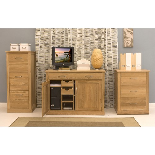 mobel oak hidden home office side open