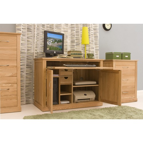 more views mobel oak hidden home office