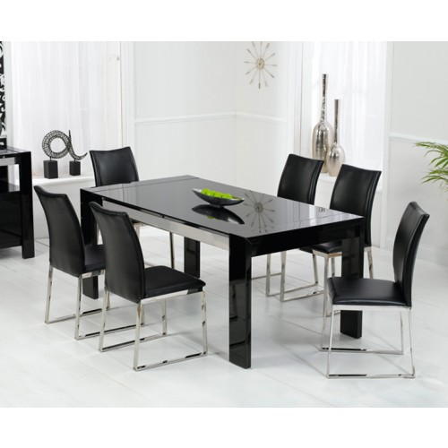 Sophia Black High Gloss Dining Table
