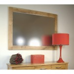 Mobel Oak Overmantel Mirror