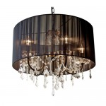 Black Shade Crystal Chandelier