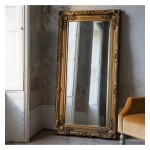 Carved Louis Leaner Mirror Gold
