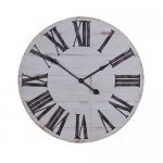 Distressed Painted Wooden Wall Clock