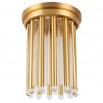 Gold Glass Poles Ceiling Pendant Light