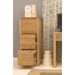 Mobel Oak 3 Drawer Filing Cabinet