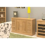 Mobel Oak 6 Drawer Sideboard