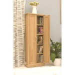 Mobel Oak CD and DVD Storage Cupboard