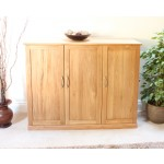 Mobel Oak Shoe Cupboard - Extra Wide