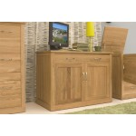 Mobel Oak Hidden Home Office Side Closed
