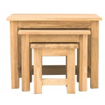 Mobel Oak Nest of 3 Tables