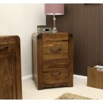 Shiro Walnut 2 Drawer Filing Cabinet