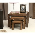 Shiro Walnut Nest of 3 Tables