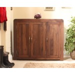 Shiro Walnut Shoe Cupboard - Extra Wide