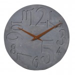 Round Slate Grey Wall Clock