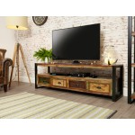 Urban Chic 4 Drawer TV Cabinet
