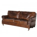 Vintage Leather 3 Seater Sofa