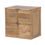 Weathered Oak 4 Drawer Cube