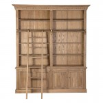 Weathered Oak Library Bookcase