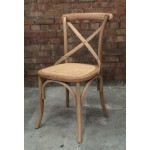 Weathered Oak X Back Dining Chair