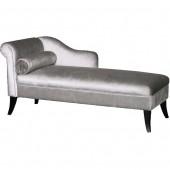 Silver Velvet Chaise