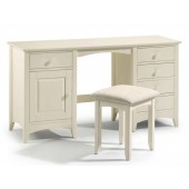 Cameo White Double Pedestal Dressing Table
